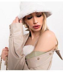akira warm it up faux fur bucket hat