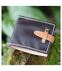 men's leather wallet, 'java brown' (indonesia)