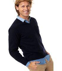 sweater azul scotfield amarra