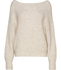 galis knit off shoulder gebreide trui beige second female