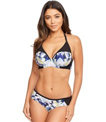 low fi underwire halter bikini top