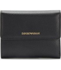 emporio armani women's frida bifold wallet - black