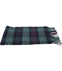 barbour check motif scarf