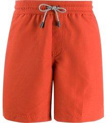 brunello cucinelli drawstring swim shorts - orange
