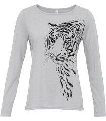maglia con tigre (grigio) - rainbow