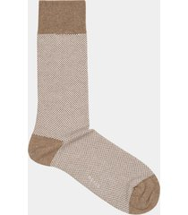 reiss sam - geometric patterned socks in oatmeal, mens