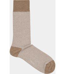 reiss sam - geometric patterned socks in oatmeal, mens