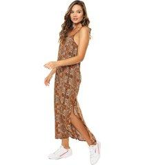 vestido marrón nylon