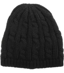 isotoner signature women's cable knit cloche hat