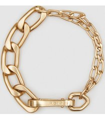 reiss ellena - brushed gold plated chain bracelet in gold, womens