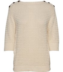 tara tape yarn sweater gebreide trui crème lexington clothing