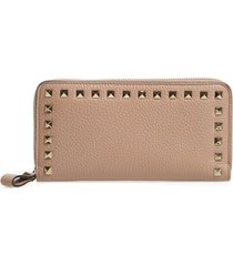 women's valentino garavani rockstud continental leather wallet -