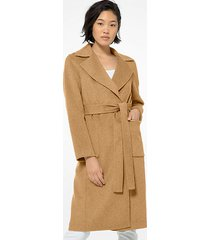 mk cappotto double-face in misto lana - cammello scuro (marrone) - michael kors