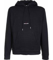 saint laurent saint laurent black hoodie