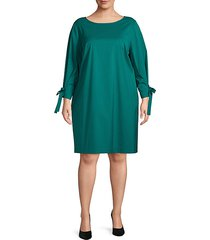 plus paige tie-sleeve dress