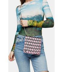 babe pale pink disk shoulder bag - pale pink
