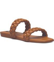 mulan shoes summer shoes flat sandals brun mango