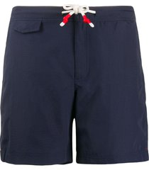 orlebar brown standard mid-length swim shorts - blue