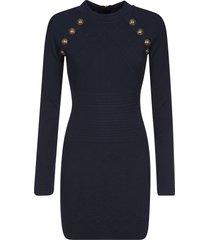 balmain zipped mid-length dress