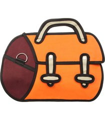 bolso kiyamachi dori naranja-bordo fight for your right