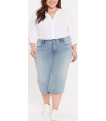 plus size wide leg pedal pusher jeans