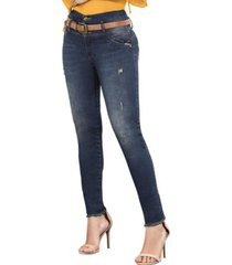 jeans colombiano con control de abdomen azul bartolomeo
