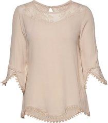 kalanie blouse blouse lange mouwen beige cream