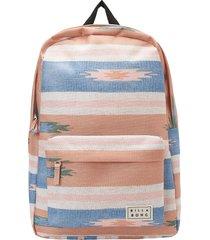 billabong next time leopard print utility backpack in tickled pink at nordstrom