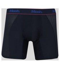 cueca masculina mash boxer longa esportiva azul marinho