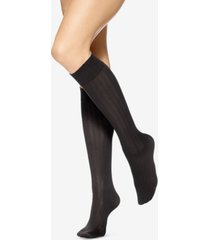 hue 4 pack assorted texture knee-high socks