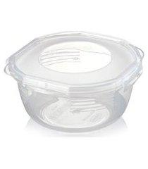 pote plástico para microondas freezer médio com trava 1,1l