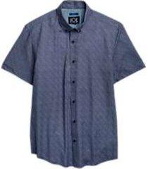 joe by joseph abboud navy short sleeve sport shirt