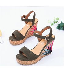 sandalias con cuñas altas para mujeres sandalias con plataforma de