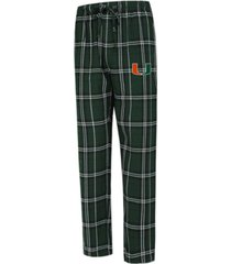 concepts sport men's miami hurricanes hillstone flannel pajama pants