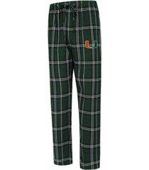 concepts sport men's miami hurricanes hillstone flannel pajama pants