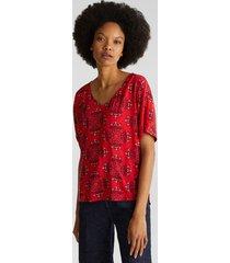 blusa estampada rojo esprit