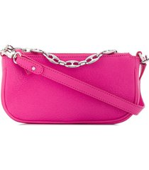 by far chain-link strap shoulder bag - pink