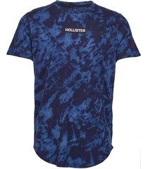 graphic t-shirt t-shirts short-sleeved blå hollister