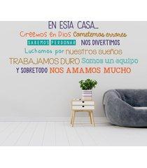 vinilo tingo tango amor en casa - mediano 150 x 65 cm