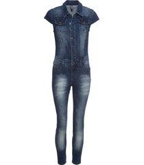 tuta di jeans con bottoni (blu) - rainbow