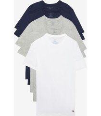 tommy hilfiger men's cotton classics crewneck undershirt 5pk navy/navy/grey heather/gry htr/white - m