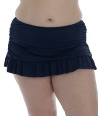 la blanca plus size island goddess skirted swim bottoms women's swimsuit