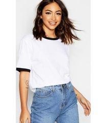 basic ringer t-shirt, white