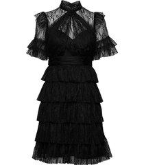 liona dress knälång klänning svart by malina