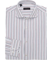 modern vertical stripe cotton dress shirt