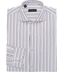 modern vertical stripe cotton dress shirt