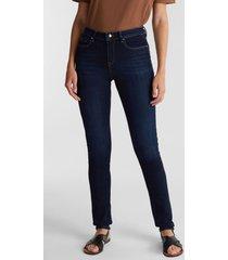 jeans bussiness slim medium rise azul oscuro esprit