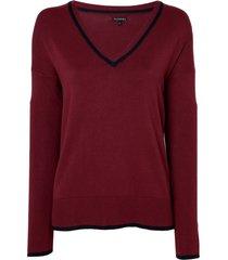 blusa le lis blanc dani i tricot vinho feminina (petrus, gg)