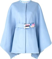 emilio pucci sirens song belted cape - blue