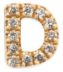 diamond 18k yellow gold letter charm - d
